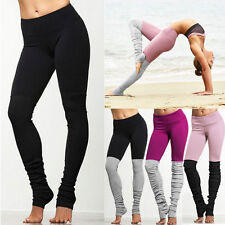 Hot Women Sport Trouser Yoga Mixcolor Workout Gym Leggings Fitness Athletic Pant