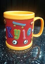 Boys Childrens 3D Personalised Name Plastic Cup/Mug New KYLE