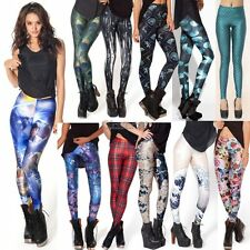 Women Colorful Galaxy Print Leggings Stretchy Sexy Jeggings Pencil Pants OK