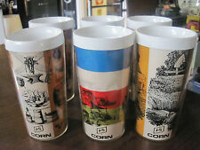 RARE Vintage FS Service Advertise Promotional Thermo serve Tumbler Cups Mugs Set