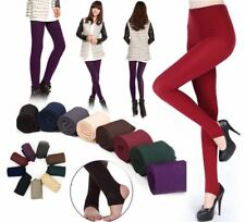 Women Winter Skinny Slim Thick Warm Stretch Pants Footless Tights Stockings Pro