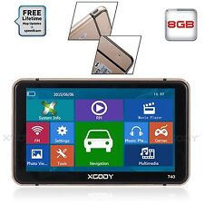 "7"" XGODY Truck Car SAT Navigator GPS Navigation NAV Speedcam POI New Maps 16GB"