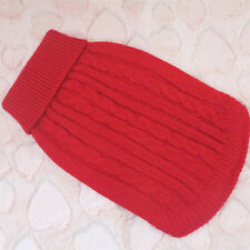 XXS/XS/S/M/L Dog Sweater Pet Clothing Puppy Sweater Winter Warm Hoodie Cat Coat