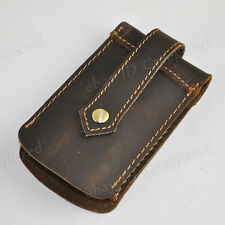 Men's Genuine Leather Car Case Waist Bag Key Chains Holder Clip Rings Pouch New