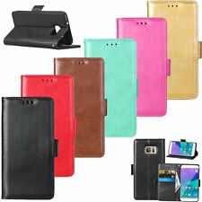 Flip Leather Wallet Card Cash Stand Magnetic Skin Case Cover For Samsung Galaxy