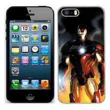 Marvel iron man case fits Iphone 4s 5c SE 5s 6 6s 7 cover mobile (6) phone