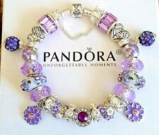 NEW Authentic PANDORA Sterling Silver BRACELET with European Beads & Charms #48