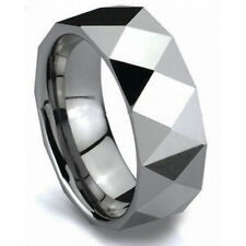 Top Sale Durable Mens 8mm Tungsten Carbide Polished Wedding Band Ring Size 9-12