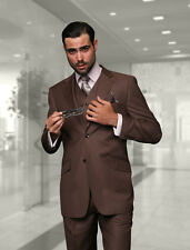 BRAND NEW COCO MENS 3PC 2 BUTTON SUIT,VESTED & PLEATED PANTS