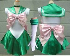 Kids Girls Sailor Jupiter Lita Kino Dress Sailor Moon Comic-con Cosplay Costume