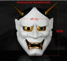 Japan Edition Buddhist Hannya Evil Mask Scary Collection Prop Resin Oni Mask Red