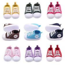 Cute Toddler Baby Boys Girls Kids Casual Sneakers Soft Sole Crib Shoes Slip-On
