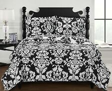 Luxury Contemporary Oversize Catherine Quilted Coverlet Set - Wrinkle Resistant