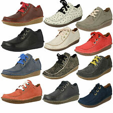 LADIES CLARKS LACE UP CASUAL FLAT COMFY TROUSER SHOES FUNNY DREAM