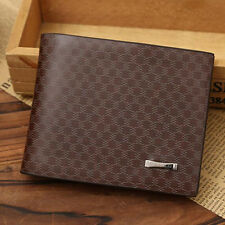 Men Bifold Business Leather Wallet Money Card Holder Coin Bag Purse Gift New
