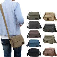 Men Canvas Handbag Vintage School Bags Satchel Messenger Military Shoulder Bags