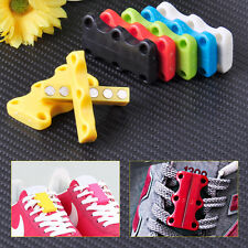 Pair Lazy Magnetic Shoelace Shoe Buckles Easy Closure No-Tie Casual Sneaker DIY