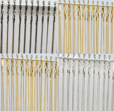 """10/20Pcs Silver/Golden Plated 18KGP Snake Chain Lobster Clasps Necklaces 17"""""""