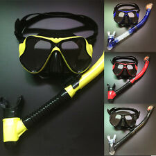 Scuba Equipment Silicon Diving Mask Set  Anti-fog Tempered Glass Diving Goggles