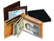 NEW! Western Leather Bi-Fold Wallet with Money Clip
