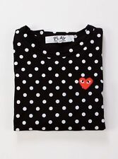 CDG PLAY Comme des Garcons LONG SLEEVE BLACK DOT T-Shirt FREE SHIPPING