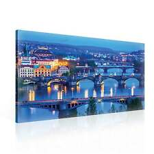 City Prague Bridges CANVAS PRINT WALL ART XXL (PP2265WS)