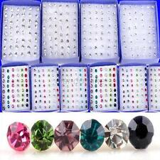 40PCS  Lots Wholesale Charming Crystal Clear Rhinestone  Ear Studs Earrings Hot