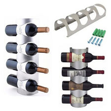 Excellent Houseware Metal Wall Mounted 3/4 Bottle Wine Holder Storage Rack CL
