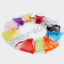 Mixed Sheer Organza drawstring Gift Bag Wedding Pouch Jewelry Candy Packing Bag