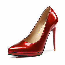 AU Sizes Synthetic Leather Slim Heel Shoes Pointy Women Shoes Pumps s3004