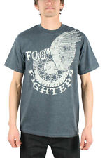 Foo Fighters - Winged Wheel Adult T-Shirt In Charcoal Heather