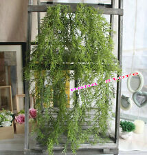 Artificial Hanging Vine faux Plant fake Silk Snapdragon Pine needles Leaf garden