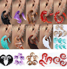 Pick Resin Carved Hook Ear Plug Expander Stretcher Spiral Body Jewelry Punk