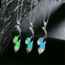Glow in The Dark Calla Lily Flower Style Pendant Necklaces Women's Jewelry Gift!