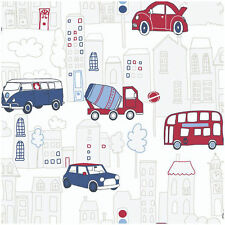 Arthouse Opera Fun Motor Mania Blue Motif Wallpaper, Wallcovering BNIB 533501