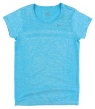 Nike Womens Dri Fit Knit Short Sleeve Shirt Blue