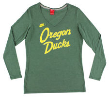 Nike Womens Oregon Ducks College Rewind Script Long Sleeve Shirt Green