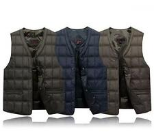 Mens winter Casual Coats Slim fit Duck Down Puffer vest sleeveless waistcoat New