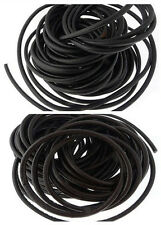 5/10/50m Black/Brown Round Real Genuine Leather Cord For Jewelry Making Choice