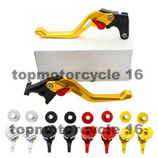 FXCNC CNC 3D Rhombus Brake Clutch Hollow Lever Set For BMW HP2 SPORT F800ST Gold
