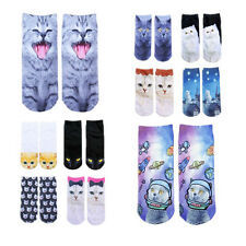 New 3D Fashion Printed Cute Cat Casual Socks Hot Ankle Socks Animal Women