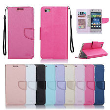 For Huawei P8 Lite Candy Elegant Magnetic Flip Cover Stand Wallet Leather Case
