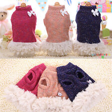 Small Medium Dog Sweater Pet Puppy Coat Winter Warm Clothes Clothing XS/S/M/L/XL