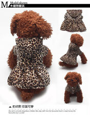 XS/S/M/L Dog Coat Pet Jacket Puppy Clothes Clothing Leopard Warm Winter Hoodie