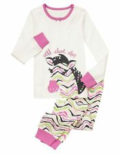 Gymboree Wild About Sleep 2 pc Gymmies Pajamas Baby Girls Size 12m 18m New NWT