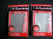 200 KMC Perfect Fit Card Sleeves -NEW- USA SELLER (2 packs of 100)