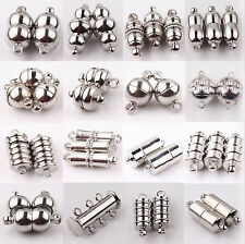 10Set Silver Plated Tube Barrel Round Strong Magnetic Clasps Jewelry Finding New