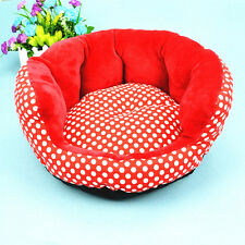 Soft Warm Pet Bed Dog House Puppy Plush Cozy Nest Mat Pad Cushion Cat Round Sofa