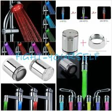 LED Water Faucet Stream Light Changing Glow Shower Stream Tap Head + Faucet FY