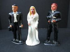 BRIDE GROOM Barclay Manoil Lead Soldiers Preacher Minister B168 620 VINTAGE